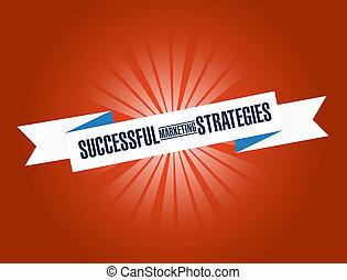 Successful marketing strategies bright ribbon message