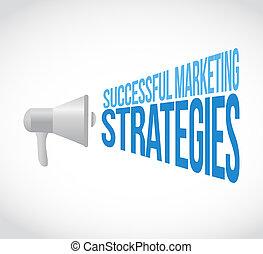 Successful marketing strategies loudspeaker message concept