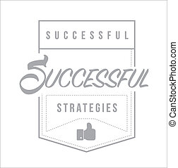 Successful marketing strategies Modern stamp