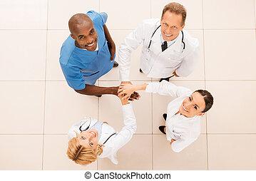 Successful medical team.