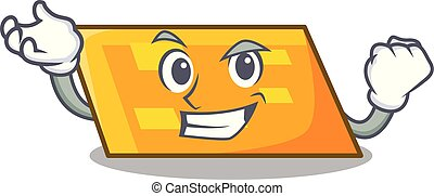 Successful parallelogram character cartoon style