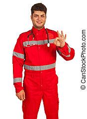 Successful paramedic man