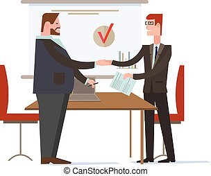 Successful Partnership, Business People Cooperation Agreement