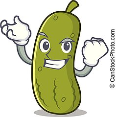 Successful pickle character cartoon style