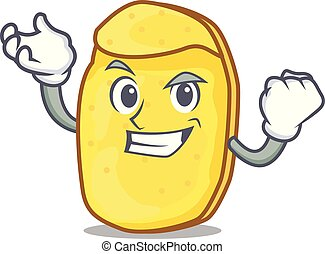 Successful potato chips character cartoon
