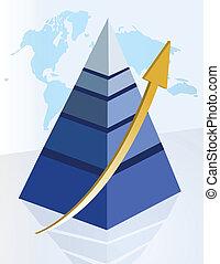 successful pyramid light blue design