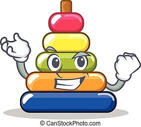Successful pyramid ring character cartoon