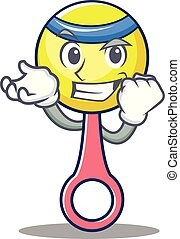 Successful rattle toy character cartoon