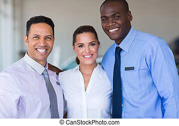 sales staff at a car dealership