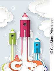Successful school start concept vector illustration