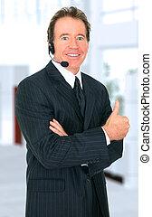 Successful Senior Customer Representative Smiling