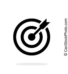 Successful shoot. Darts target aim icon on white background...