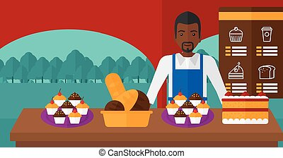 Successful small business owner. - An african-american man...