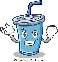 Successful soda drink character cartoon
