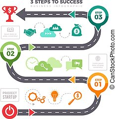 Successful steps infographic. Business graphs pyramid levels achievement mission vector infographic elements
