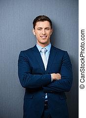 Successful stylish young businessman
