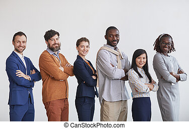 Successful Team of Business People in Row