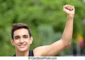 Successful Teen Boy