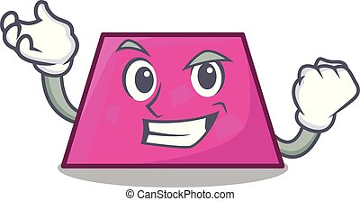 Successful trapezoid character cartoon style