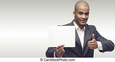 successful young african businessman