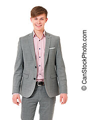 Successful young businessman in suit