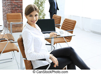 successful young female assistant