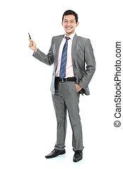 successfull business man presenting