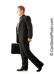Successfull businessman isolated on white background