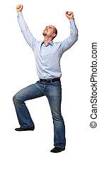 happy man isolated on white background