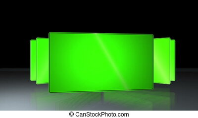Succession of chroma key - Animation of a succession of...