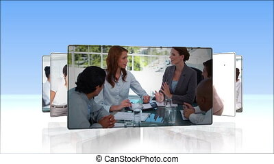 succession, vidéo, professionnels