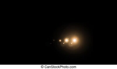 Successive round flashes of brown on a black background. HD