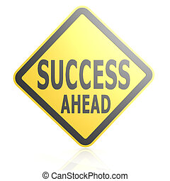 successo, avanti, segno strada