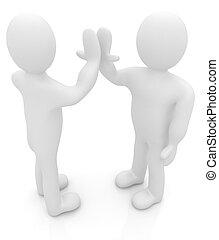 successo, -, due, emozioni, isolato, series:, persone, cinque, white., umano, fra, uomo, celebrare, 3d