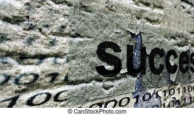successo, grunge, concetto