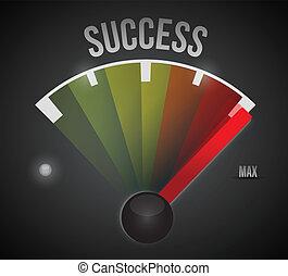 successo, tachimetro, a, il, max