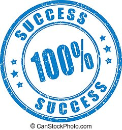 Successs guarantee vector stamp on white background