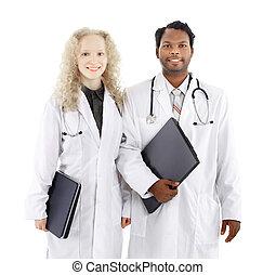 succesvolle , afrikaan amerikaan mannen, en, vrouwen, gezondheid, werkmannen
