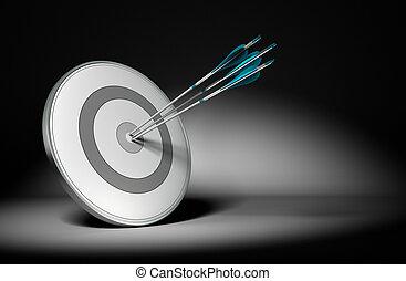 succesvolle , bedrijf, doelstellingen, -, handel concept