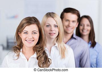 succesvolle , jonge, handel team