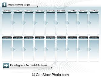 succesvolle , planning, tabel, zakelijk