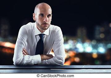 succesvolle , zakenman, visie