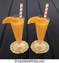 succo arancia, frutta