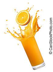 succo arancia, schizzo