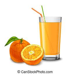 succo arancia, vetro