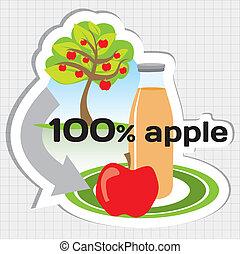 succo, cerchio, mela, fabbricazione