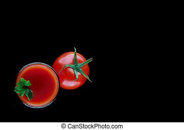 succo pomodoro, prezzemolo, vetro