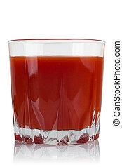 succo, pomodoro, vetro