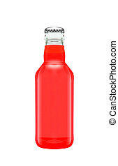 succo, pompelmo, bottiglia, vetro