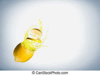 succo, schizzo, limone